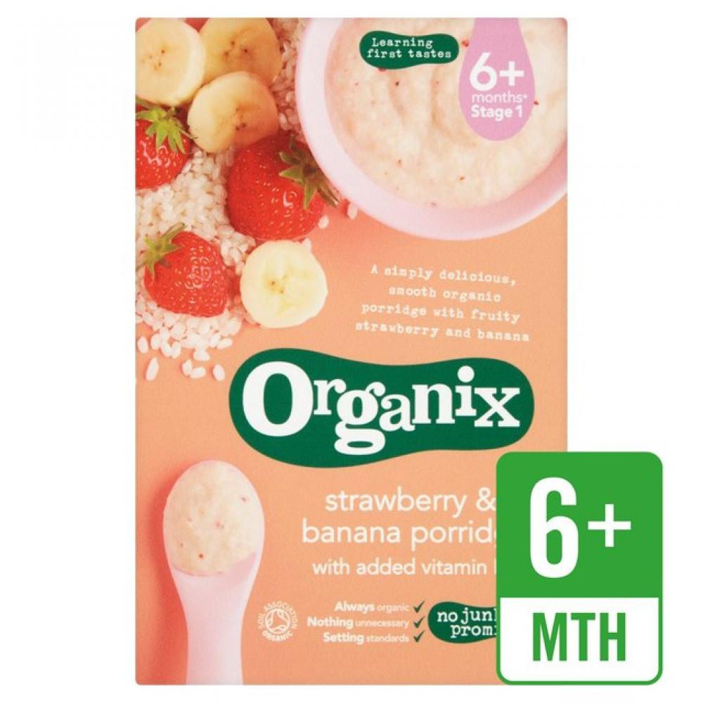 Organix Strawberry and Banana Porridge 120g