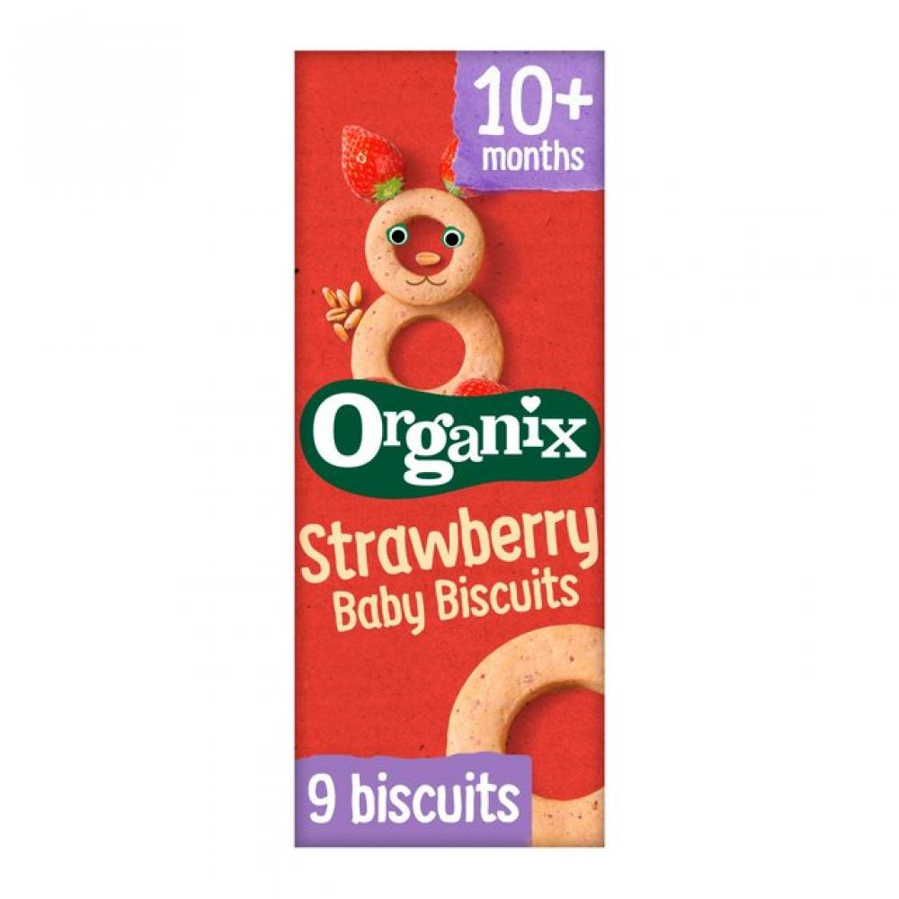 Organix Strawberry Baby Biscuits 10 Months Plus 54g