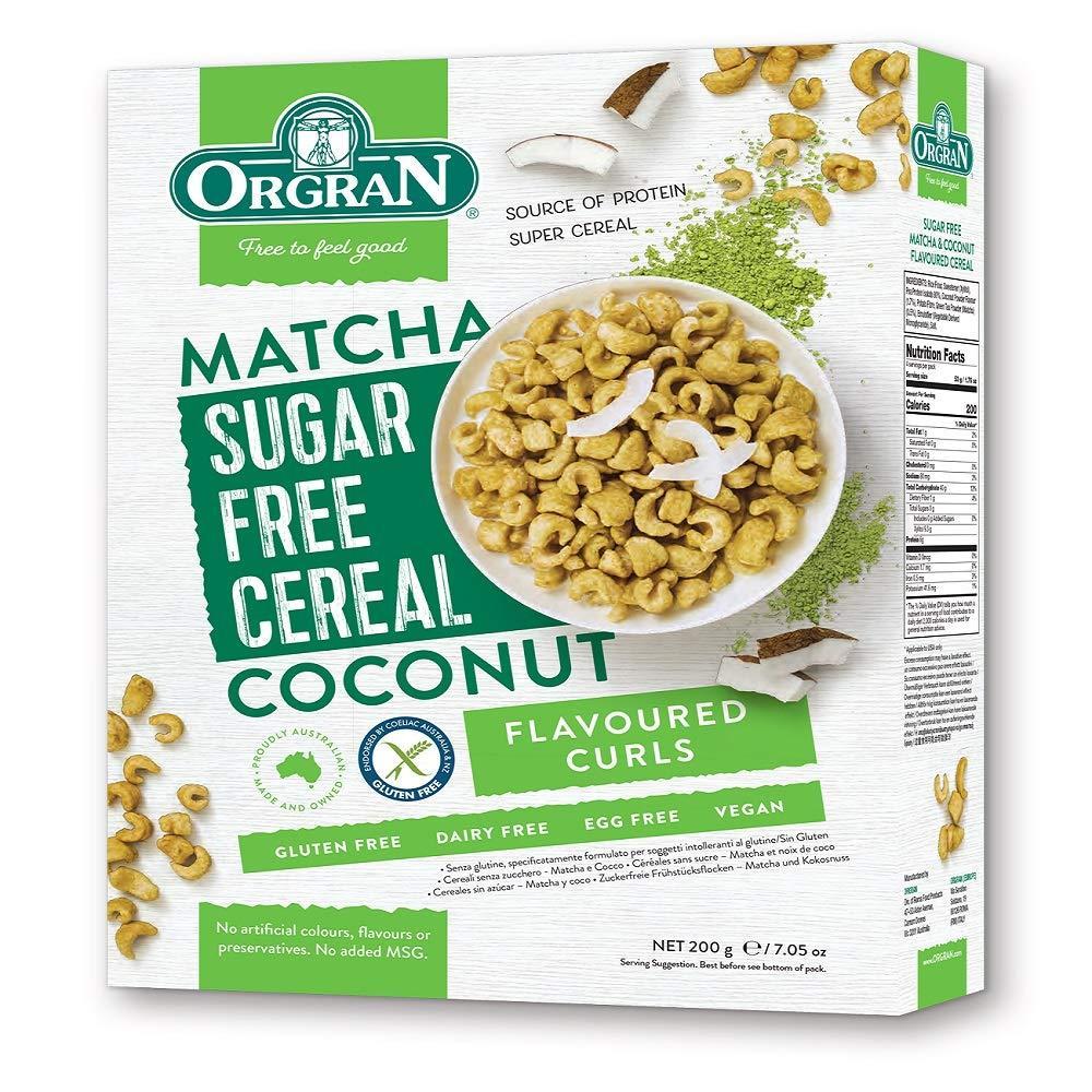 Orgran Sugar Free Matcha and Coconut Cereal 200g