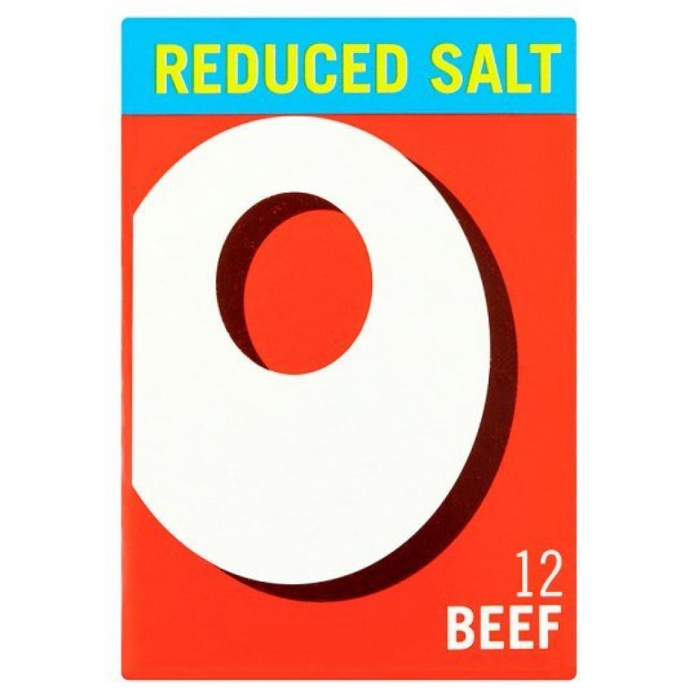 Oxo 12 Beef Stock Cubes Reduced Salt 71g