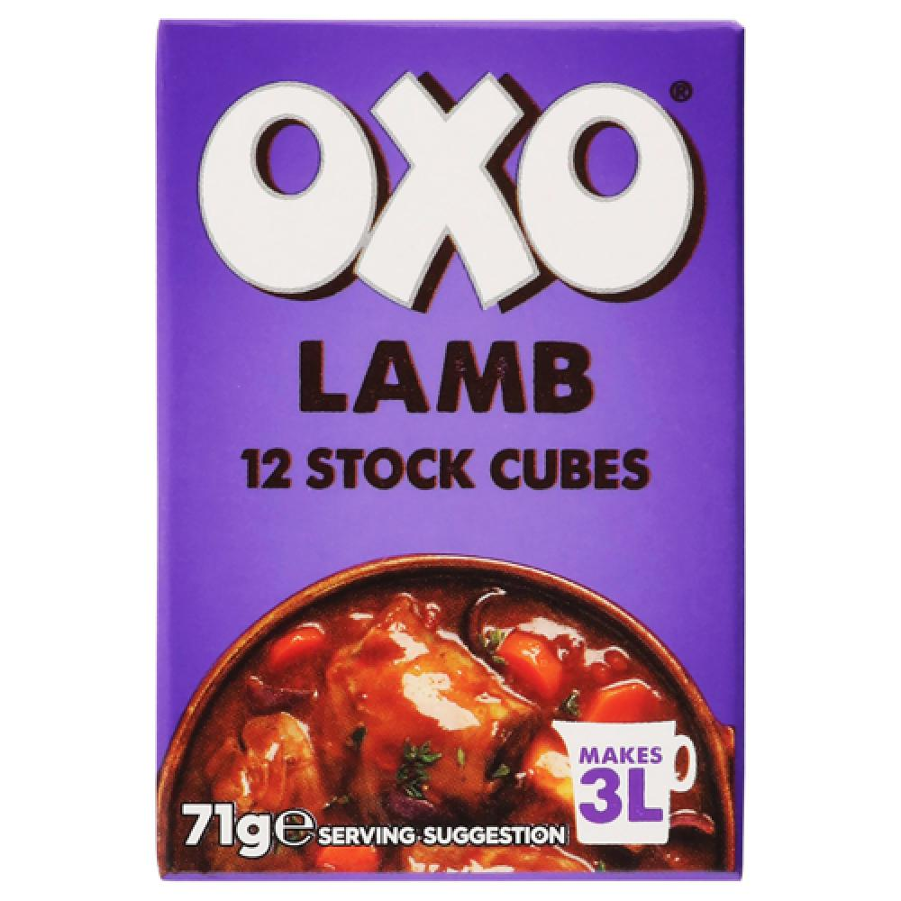 Oxo 12 Lamb Stock Cubes