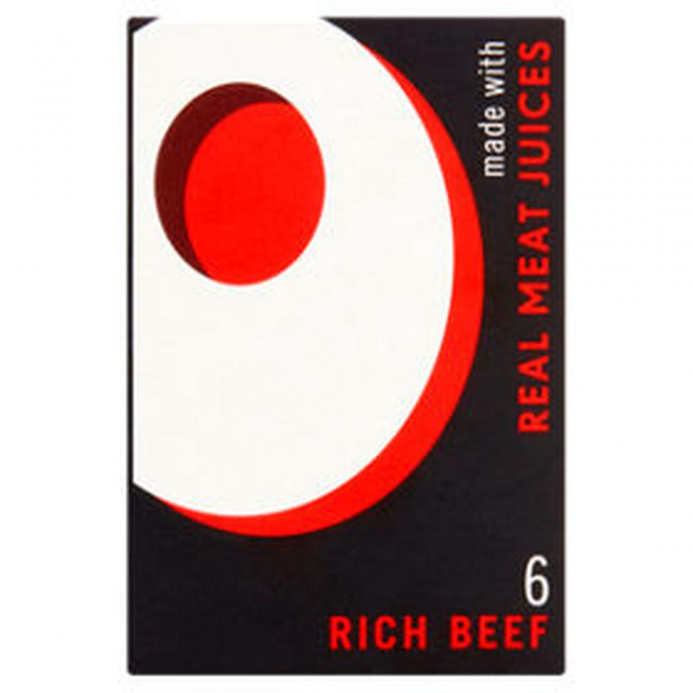 Oxo 6 Rich Beef Stock Cubes
