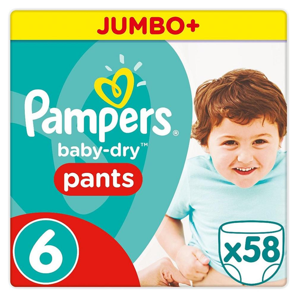 Pampers Baby-Dry Nappy PantsMonthly Pack15 kgSize 6 58 Nappies