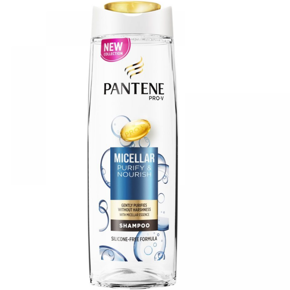 Pantene Pro V Micellar Cleanse And Nourish Silicone Free Shampoo 400ml