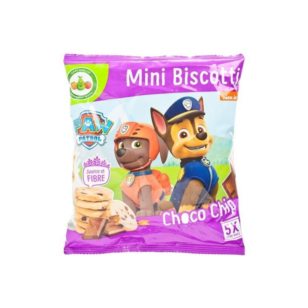 WEEKLY DEAL  Paw Patrol Mini Biscotti Choco Chip 5 x 20g