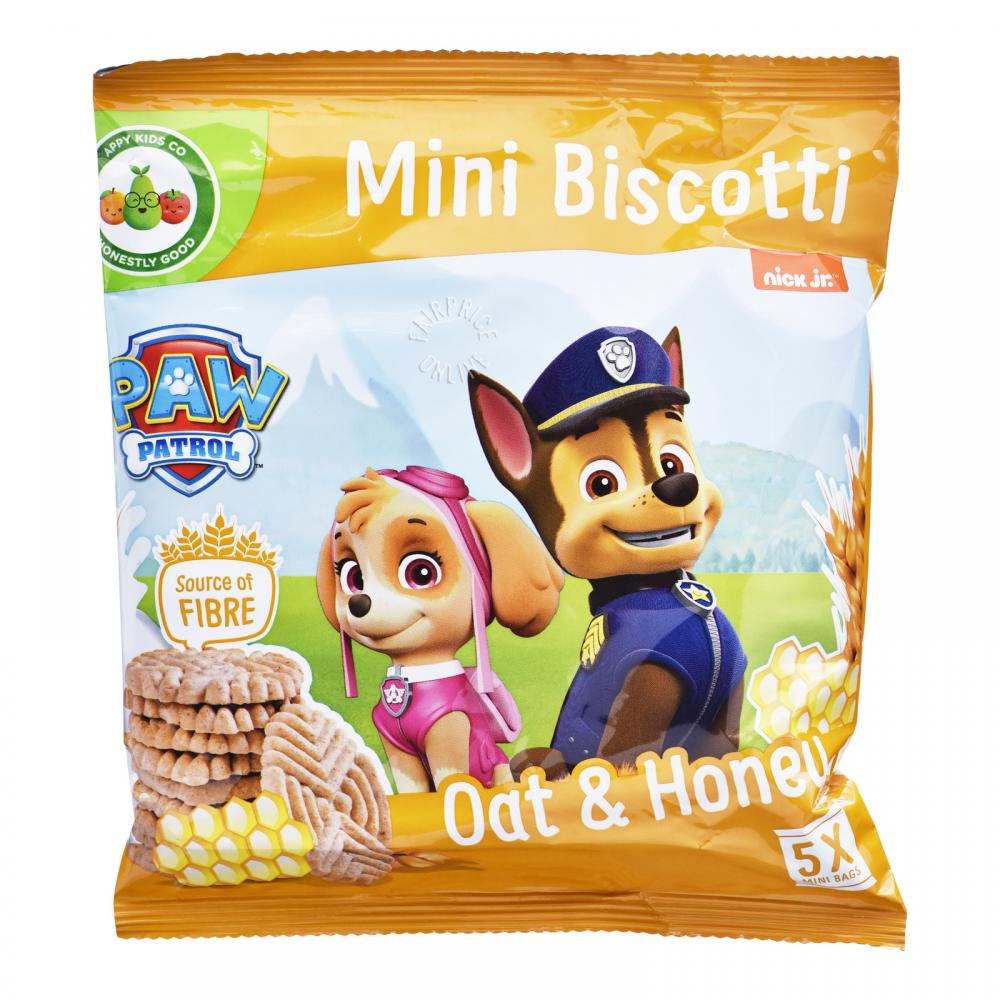 WEEKLY DEAL  Paw Patrol Mini Biscotti Oat and Honey 5 x 20g