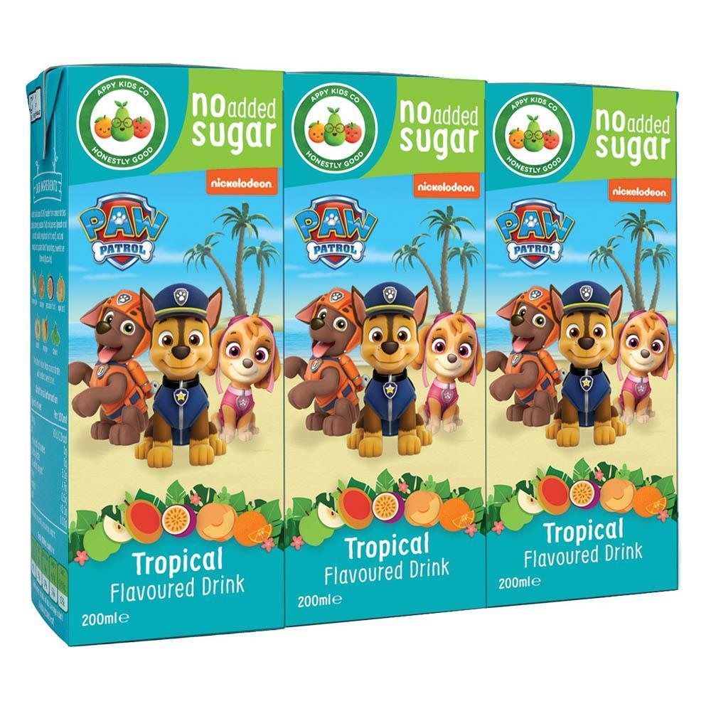 WEEKLY DEAL  Paw Patrol Tropical Fruit Drink 3 x 200ml