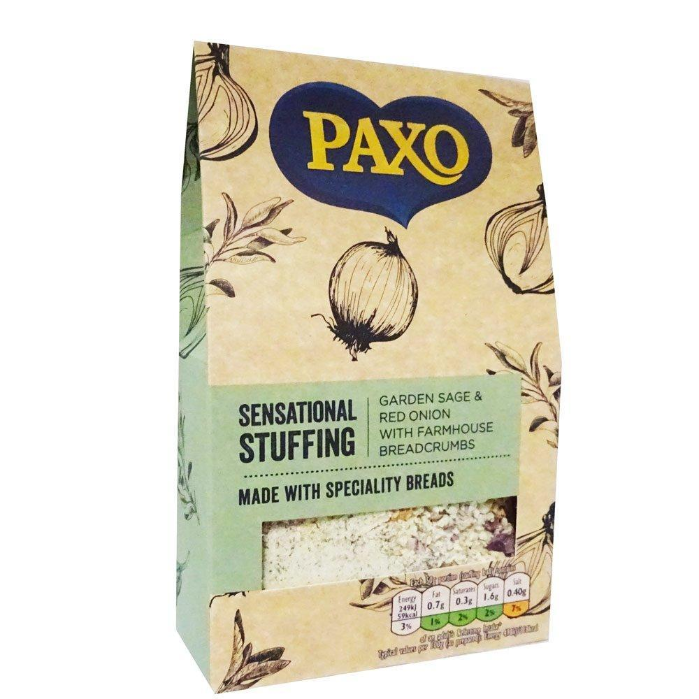 Paxo Sensational Stuffing Garden Sage and Red Onion with Farmhouse Breadcrumbs 110g