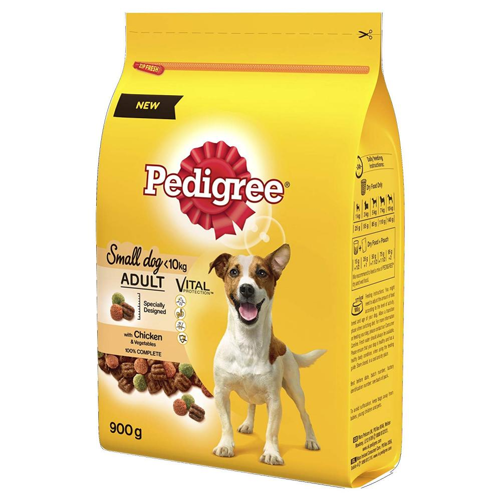 SALE  Pedigree Adult Small Dog Dry Food with Chicken and Vegetables 900g
