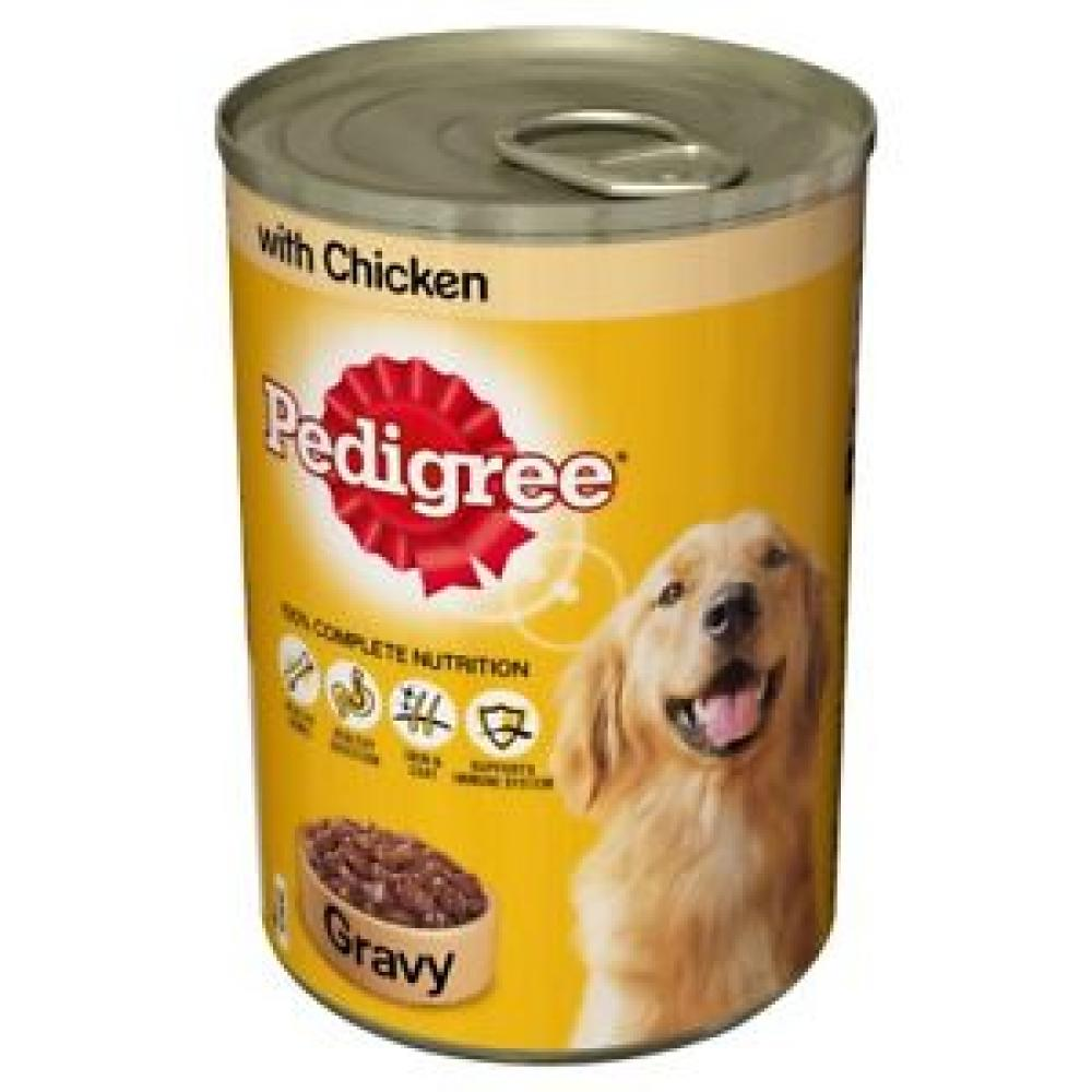 Pedigree Dog Tins Mixed Meat Selection in Gravy Lucky Dip 400 g