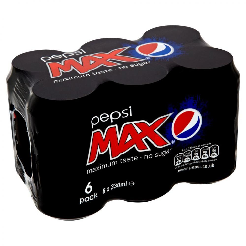 Pepsi Max 330ml x 6