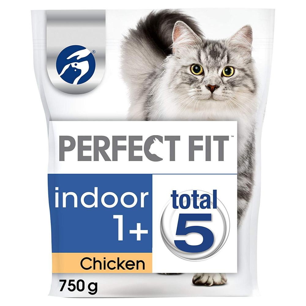 Perfect Fit Chicken Indoor 1 Cat Complete Dry Food 750g