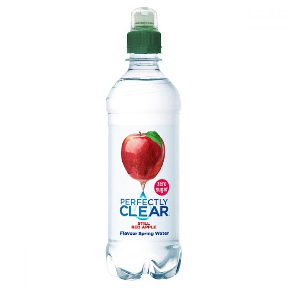 Perfectly Clear Still Red Apple Flavour Natural Spring Water 500ml