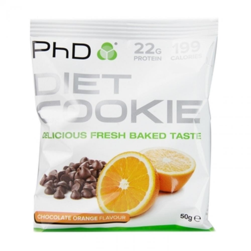 PhD Diet Cookie Chocolate Orange Flavour 50g