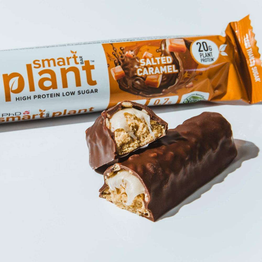 PhD Smart Bar Plant Vegan Protein bar Salted Caramel 64 g