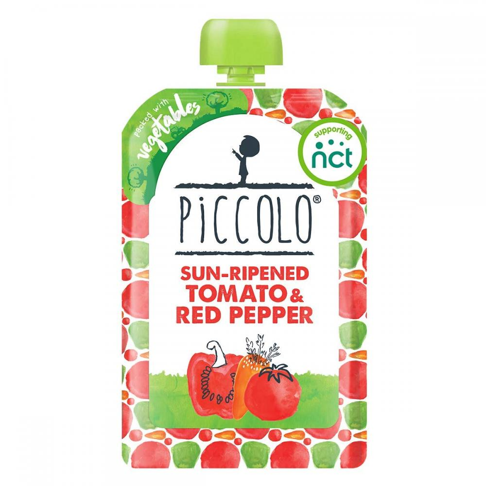 Piccolo Sun Ripened Tomato And Red Pepper Puree 100g