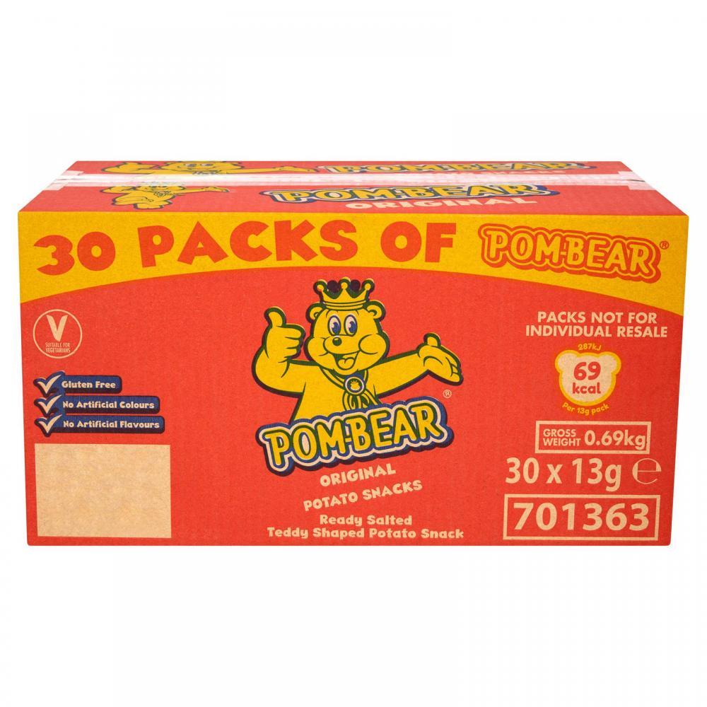 CASE PRICE  Pom Bear Original Potato Snacks 30 x 13g