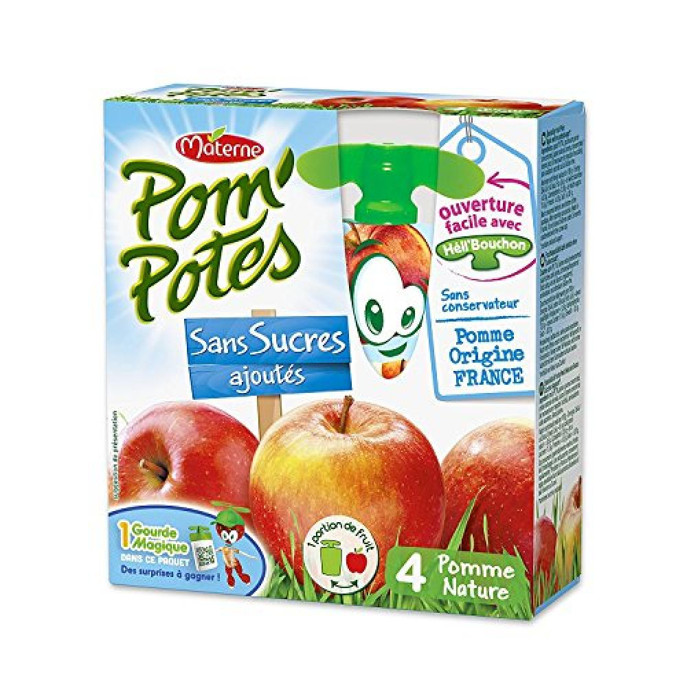 Pom Potes MaterneFruit Snack on the Go for Kids 4x90g