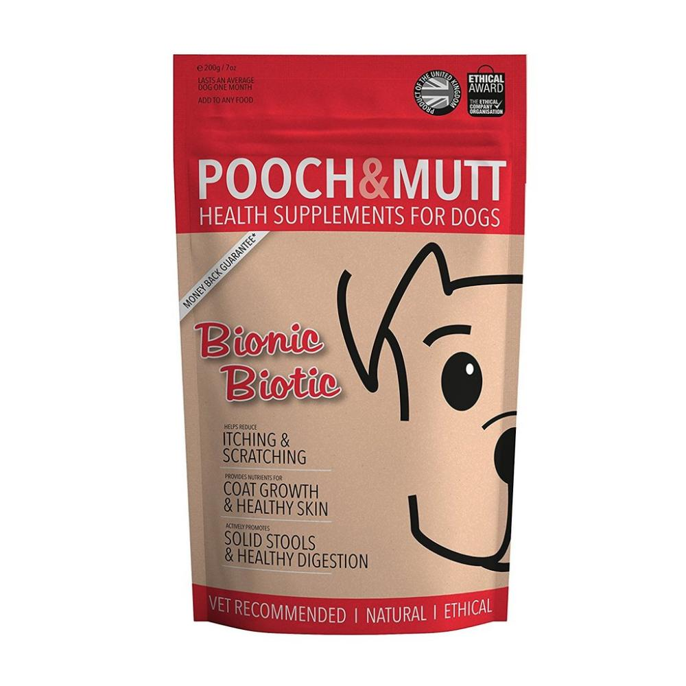 Pooch and Mutt Bionic Biotic Health Supplement for Dogs 200g