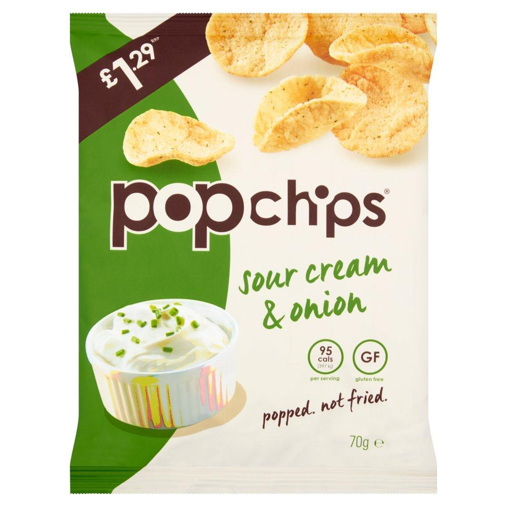 Popchips Sour Cream and Onion 70g