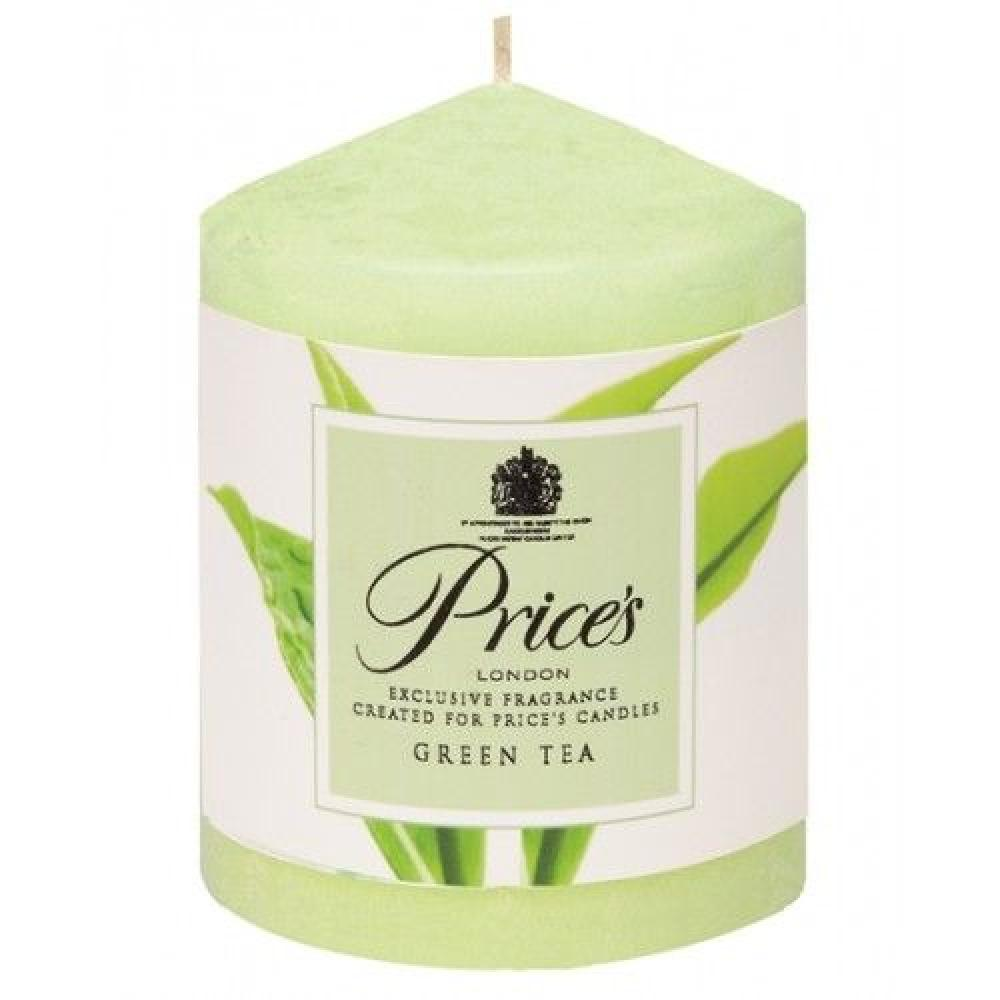 Prices Green Tea Scented Pillar Candle 260g