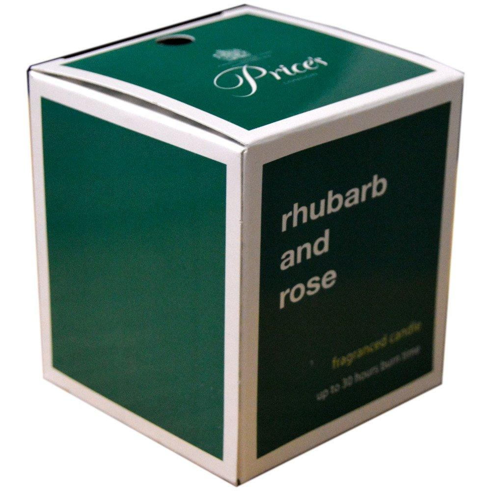 Prices Rhubarb and Rose Candle 300g