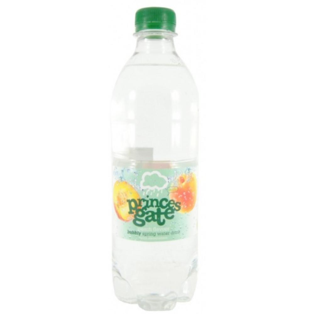 Princes Gate Peach Flavour Spring Water Drink 500ml