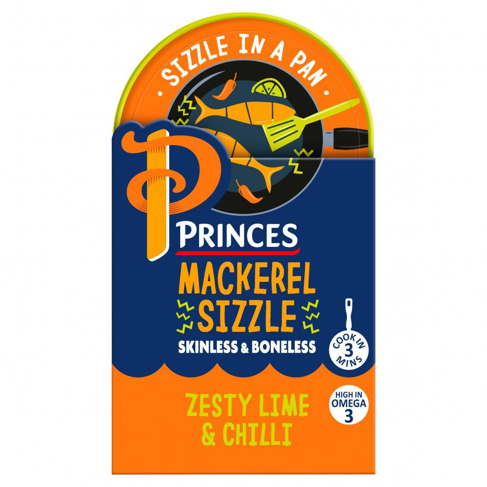 Princes Mackerel Sizzle Zesty Lime and Chilli 160g