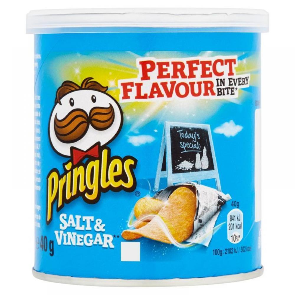 Pringles Salt and Vinegar Crisps 40g