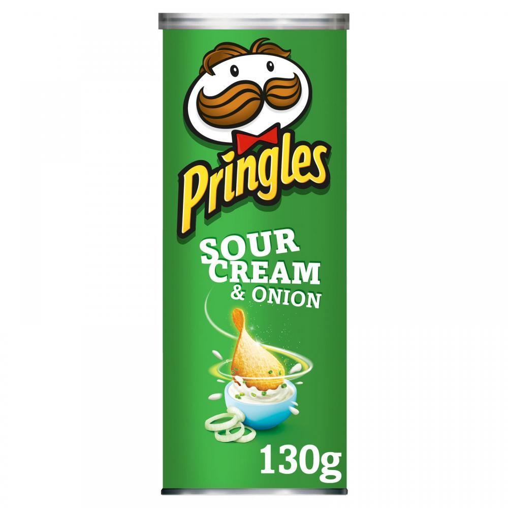 Pringles Sour Cream And Onion 130g