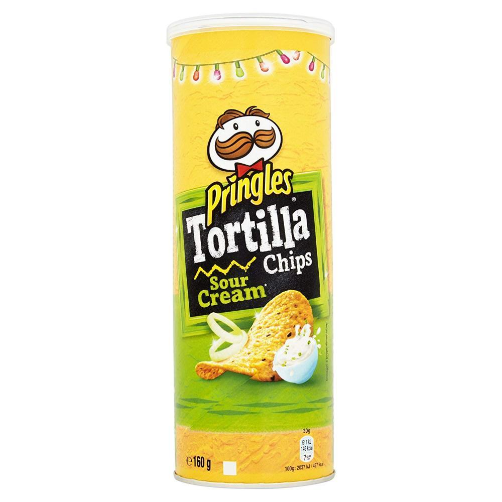 Pringles Tortilla Chips Sour Cream 160g