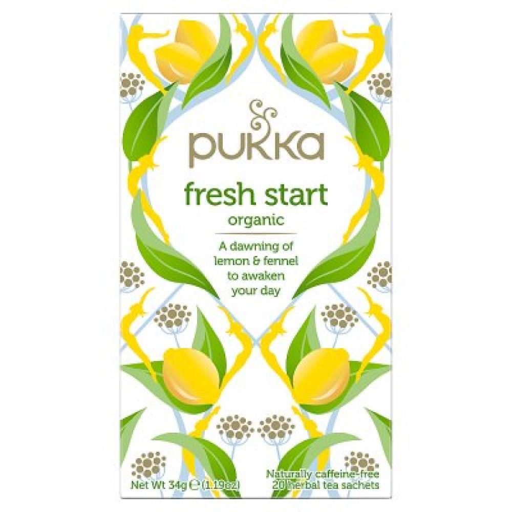 Pukka Organic Fresh Start Lemon and Fennel Herbal Tea 34 g