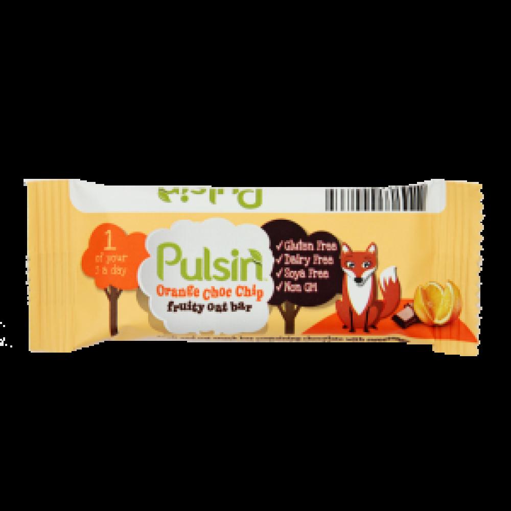 Pulsin Orange Choc Chip Fruity Oat Bar 25g