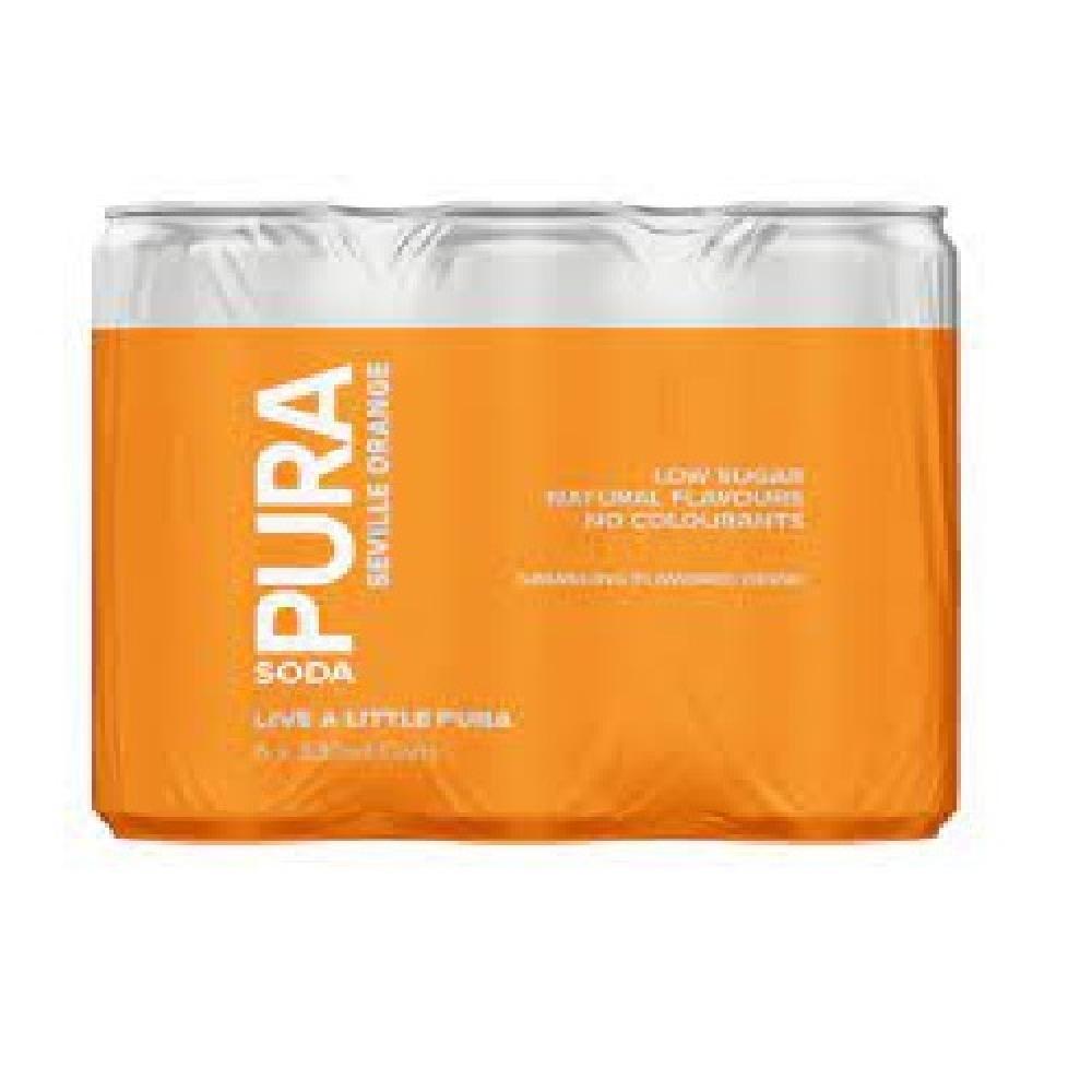 Pura Soda Seville Orange 6 x 330ml