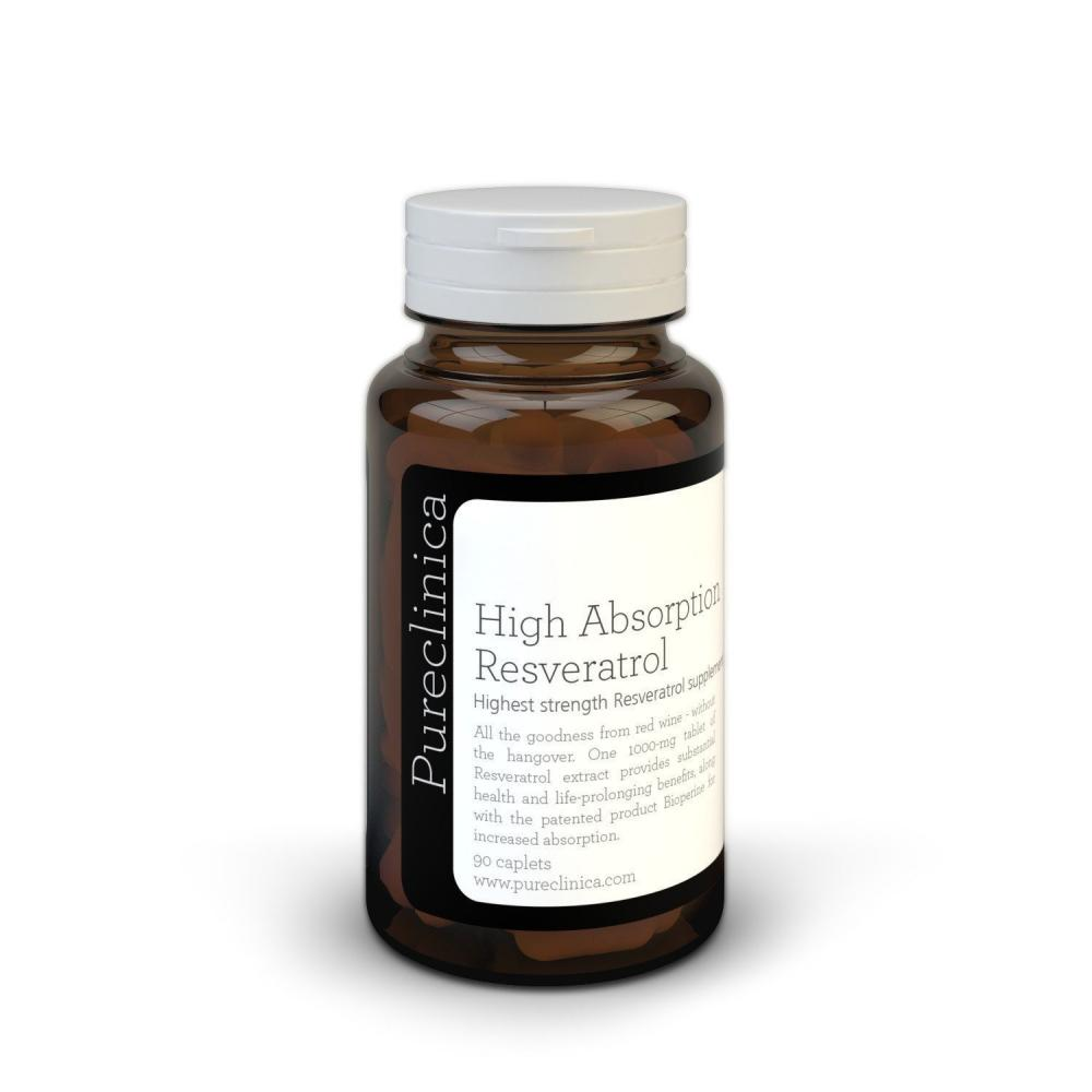 Pureclinica High Absorption Resveratrol 90 Tablets