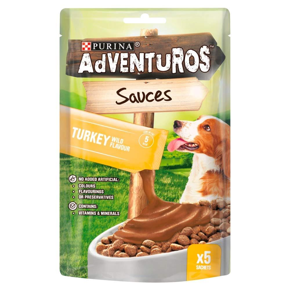 Purina Adventuros Sauces Dog Treat Wild Turkey 5 x 25g