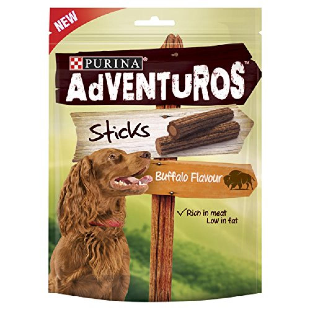 Purina Adventuros Sticks Dog Treats Buffalo Flavour 120 g