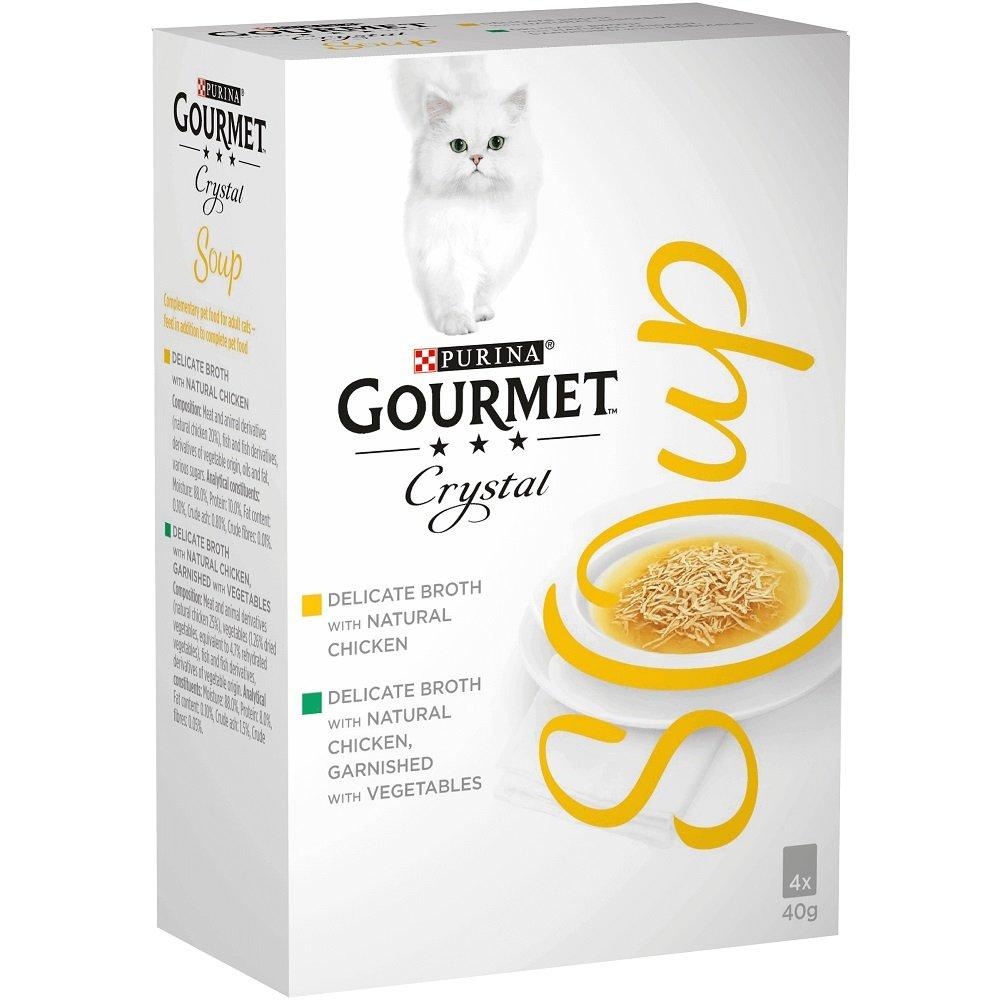 Purina Gourmet Crystal Soup Chicken Variety 40g x 4