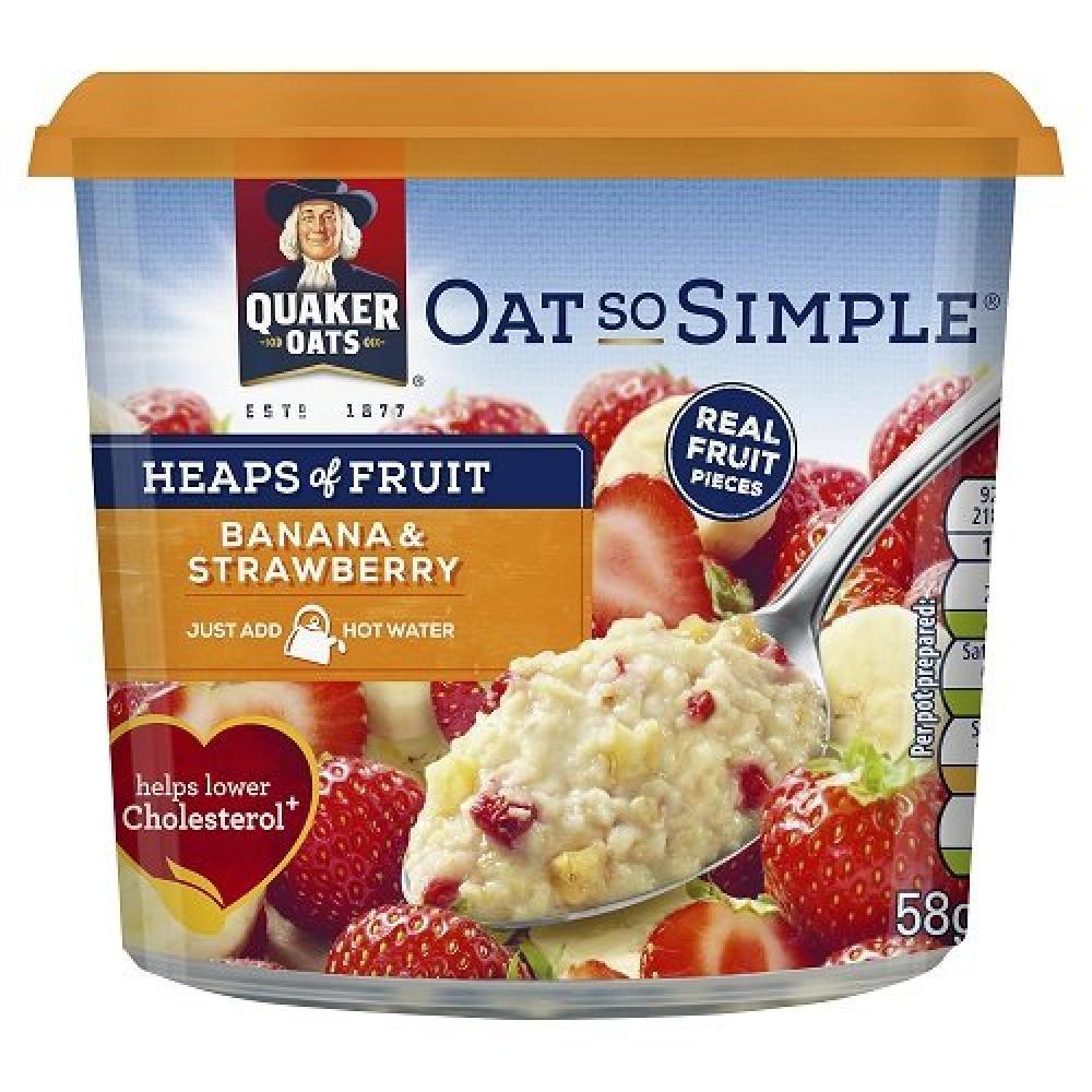 Quaker Banana And Strawberry Porridge 58g