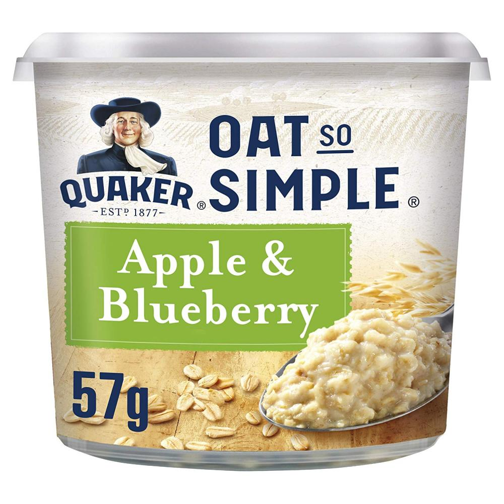 Quaker Oat So Simple Apple and Blueberry Porridge Pots 57 g
