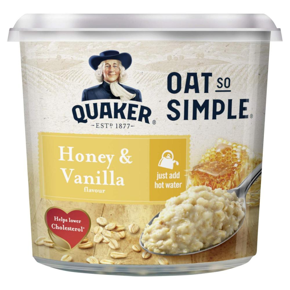 SALE  Quaker Oat So Simple Honey and Vanilla Flavour Porridge Pot 57g