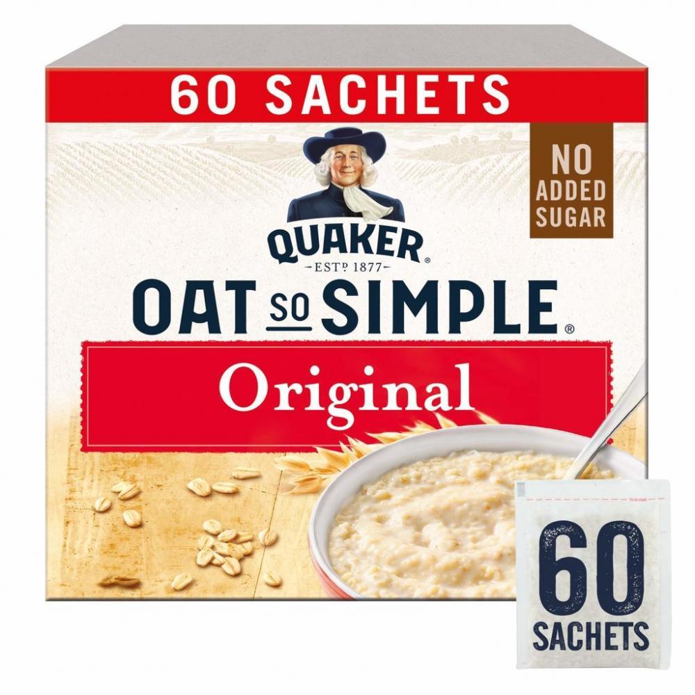 Quaker Oat So Simple Original Porridge Sachets 60x27g