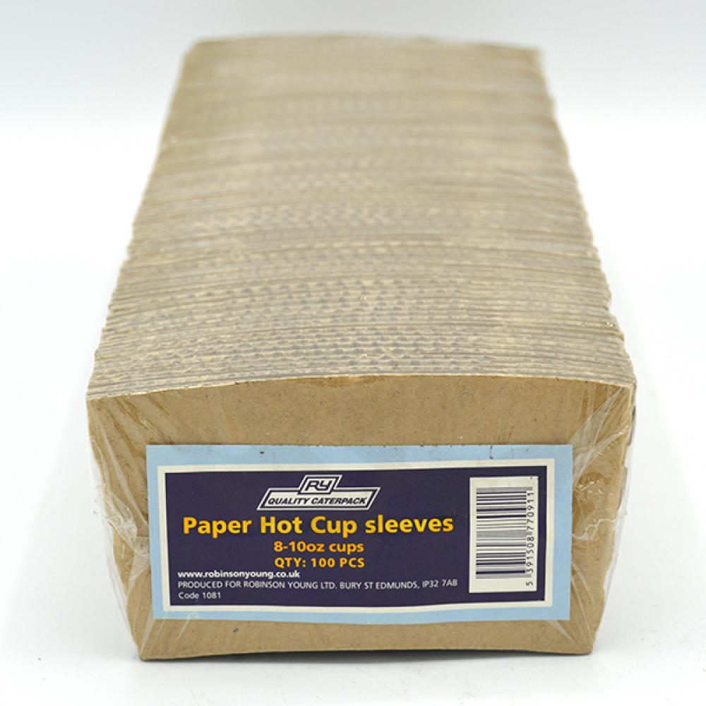 Quality Caterpack 100 Paper Hot Cup Sleeves