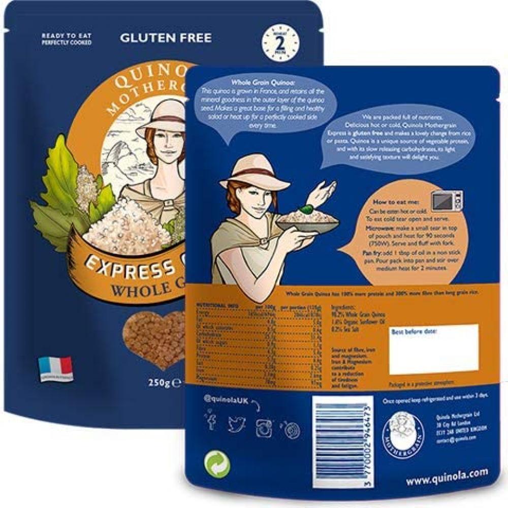 Quinoa Mothergrain Wholegrain Quinoa - Express Ready to Eat Pouches 250 g