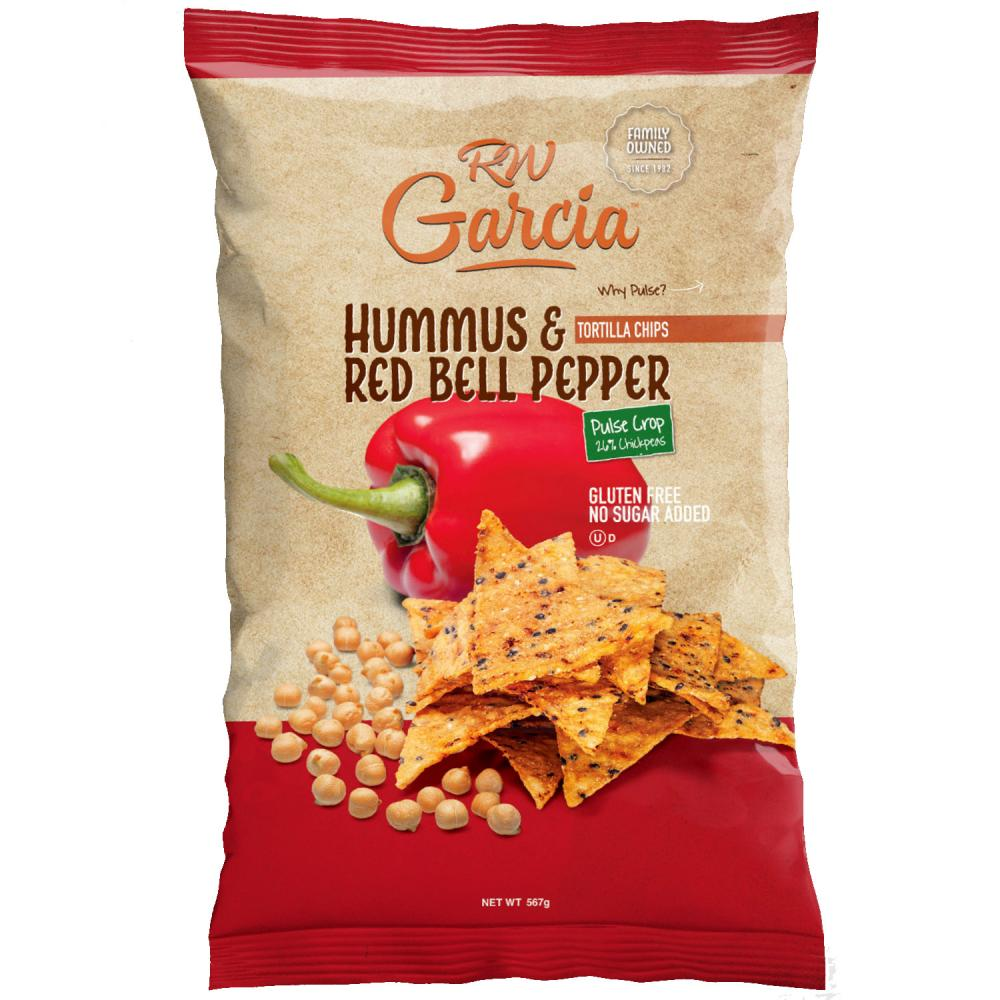 R W Garcia Hummus and Red Bell Pepper Tortilla Chips 567g