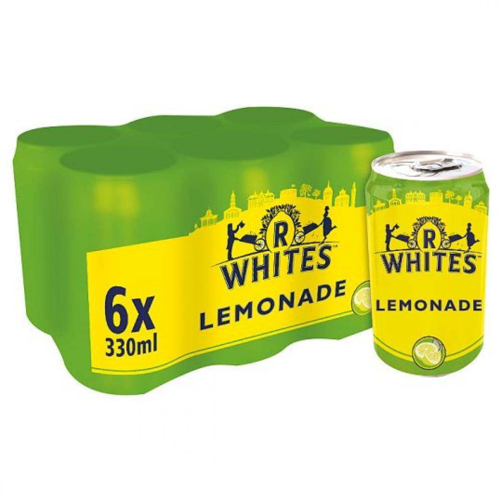 R Whites Premium Lemonade 330ml x 6