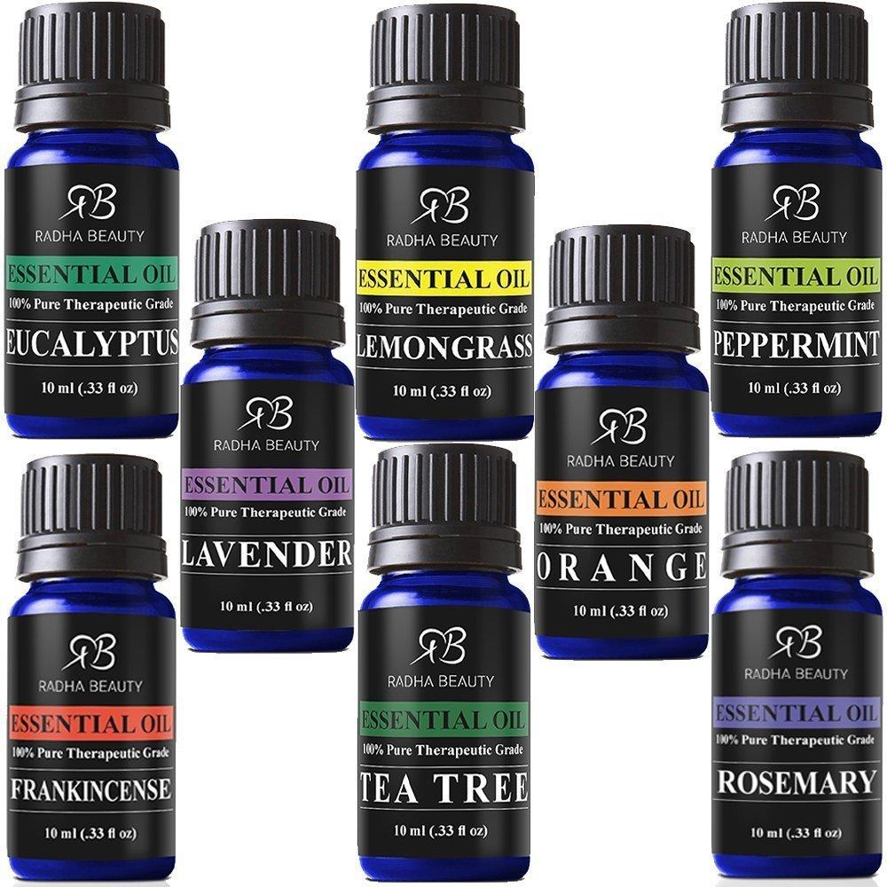 Radha Aromatherapy Essential Oils 6x10ml