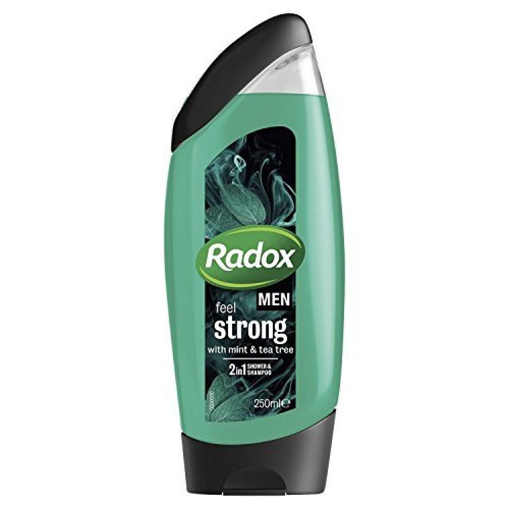 Radox Men Feel Strong Mint and Tea Tree 2in1 Shower Gel 250ml