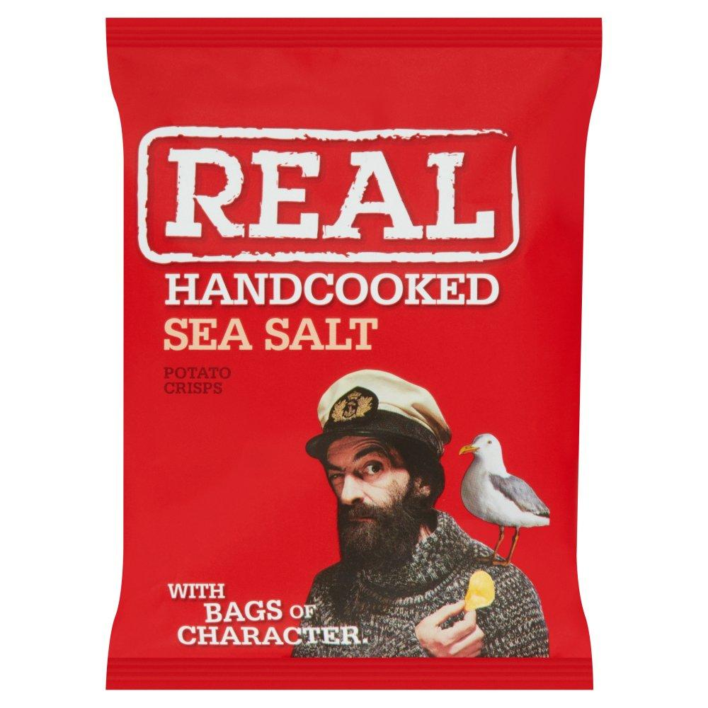 Real Handcooked Sea Salt Crisps 35g