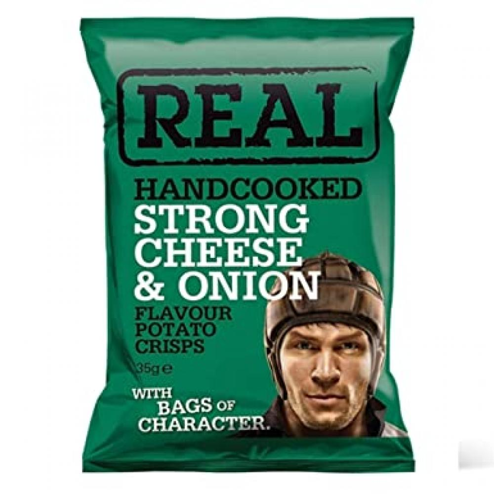 Real Handcooked Strong Cheese and Onion 35g